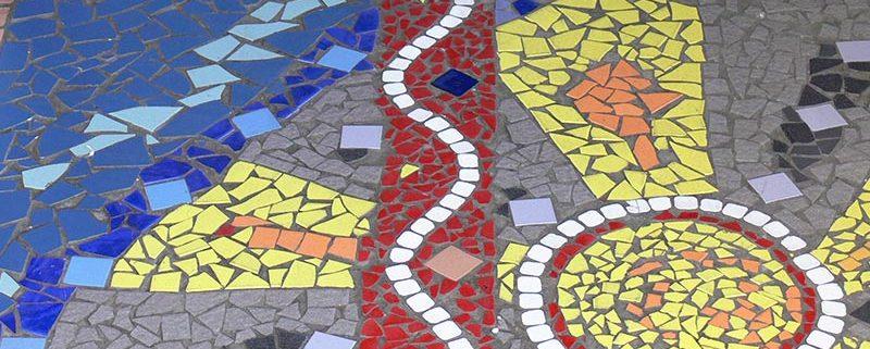 Mosaic flooring in Langa