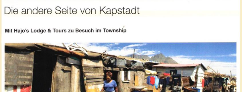 A picture of a german article on Hajo and Township tours